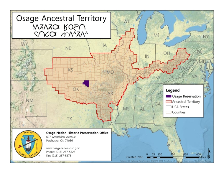 Ancestral Territory Osage